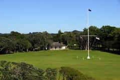 Waitangi Treaty Grounds. Bay of Islands, New Zealand Stock Photo