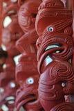 Waitangi Treaty Grounds. WAITANGI, NZ - JAN 07: Maori Marae (meeting house) decoration on Jan 07 2014 in Waitangi National Reserve, Bay of Islands, Far North royalty free stock photos