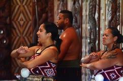 Waitangi Treaty Grounds. WAITANGI, NZ - FEB 06:Maori people sing and dance during Waitangi Day on February 6 2014 in Waitangi NZ.It's a New Zealand public Royalty Free Stock Photography