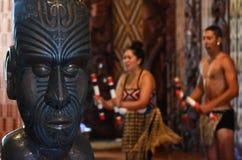 Waitangi Treaty Grounds. WAITANGI, NZ - FEB 06:Maori people sing and dance during Waitangi Day on February 6 2014 in Waitangi NZ.It's a New Zealand public Stock Photos
