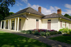 Waitangi Treaty House. The site of the signing of the Treaty Of Waitangi in 1840 Royalty Free Stock Images