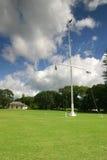 Waitangi Treaty House. And flagpole, the site of the signing of the Treaty Of Waitangi in 1840 Stock Photo