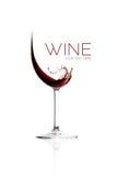 απομονωμένο κρασί waite του OM κόκκινο Σχέδιο παφλασμών Στοκ φωτογραφία με δικαίωμα ελεύθερης χρήσης