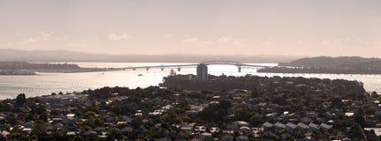 Waitemata Hafen-Panorama Lizenzfreie Stockfotos