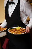 Waiter. Wedding food during a catered social event Royalty Free Stock Photo