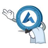 Waiter Ardor coin mascot cartoon. Vector illustration Royalty Free Stock Images