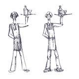 Waiter. Authors illustration in Stock Images