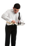 Waiter or bartender at work Royalty Free Stock Photo