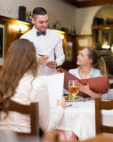 Waiter with beverages Stock Photography