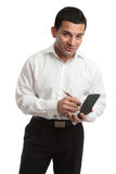 Waiter or businessman Royalty Free Stock Image