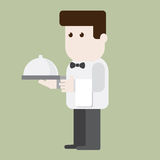 Waiter character ready to server Stock Photos