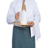 Waiter with Coffee Urn royalty free stock image