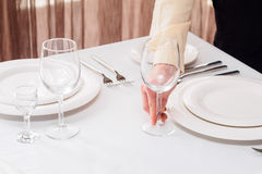 Waiter with glasses Royalty Free Stock Photo