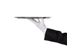 Waiter holding empty tray Royalty Free Stock Photography
