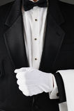 Waiter Holding Lapel Royalty Free Stock Photos