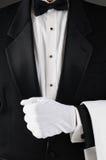 Waiter Holding Lapel royalty free stock photos