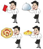 Waiter. Holding tray and check Royalty Free Stock Image
