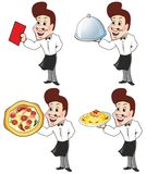 Waiter. Holding tray and check Royalty Free Stock Photo