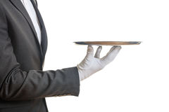 Waiter holding a tray Stock Image