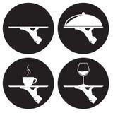 Waiter icons set Royalty Free Stock Photos