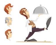 Waiter illustration Royalty Free Stock Photography