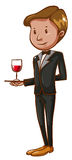 A waiter Royalty Free Stock Images