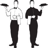 Waiter illustrations - service Royalty Free Stock Photography