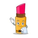Waiter lipstick character cartoon style Stock Photo