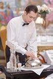 Waiter In the luxury restaurant Stock Image