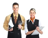 Waiter man Royalty Free Stock Images
