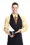 Waiter man Stock Images
