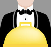Waiter and Meal vector illustration