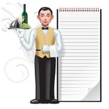 Waiter and menu Stock Image