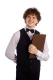 Waiter with menu Stock Images
