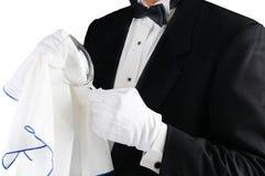 Free Waiter Polishing Glass Stock Photos - 88953983