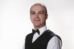 Waiter portrait. Waiter portrair isolated on white Stock Photos