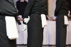 Free Waiter Ready To Service At Party Stock Photos - 46593123