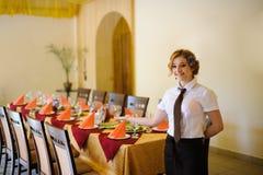 Waiter in the restaurant Stock Image
