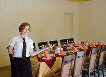 Waiter in the restaurant Royalty Free Stock Photo