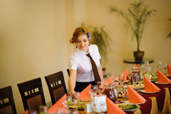 Waiter in the restaurant Stock Photography