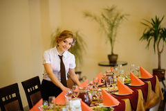 Waiter in the restaurant Royalty Free Stock Photography
