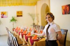 Waiter in the restaurant Stock Photos