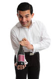 Waiter or servant presenting wine Royalty Free Stock Photos