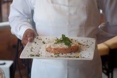 waiter serving Royalty Free Stock Photos