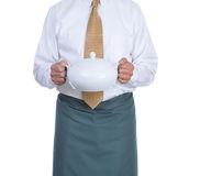 Waiter with Soup Tureen Royalty Free Stock Images