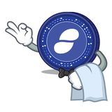 Waiter Status coin mascot cartoon. Vector illustration Royalty Free Stock Photos