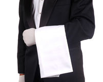 Waiter With Towel Royalty Free Stock Photography