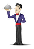 Waiter with a tray Stock Photography