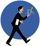 Waiter with the tray. Vector Waiter with the tray serving wine Vector Illustration