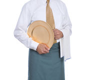 Waiter with Tray and Towel Royalty Free Stock Photo